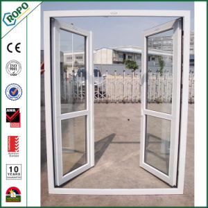 China Import PVC Profile Open Outside Tempered Glass Doors pictures & photos