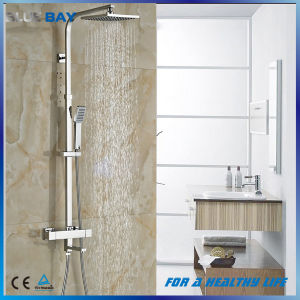 "Thermostatic Bath Tub Shower Mixers with Handshower 8"" Rain Showerhead pictures & photos"