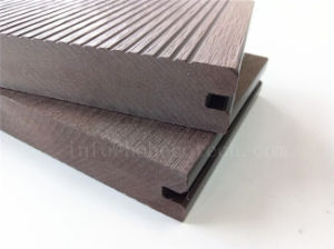 Hot Sale Patio WPC Composite Decking/High-Quality Solid and Groove Wodd Plastic Decking pictures & photos
