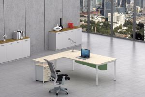 White Customized Metal Steel Office Executive Desk Frame with Ht65-2 pictures & photos