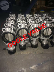 ANSI Gear Operated Operated Wafer Type Soft Seal Center Sealing Butterfly Valve (GAD371X) pictures & photos