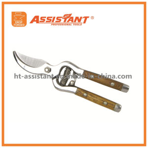 Garden Shears Drop Forged Floral Secateurs Wood Hand Pruners pictures & photos
