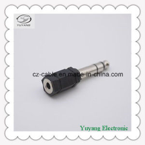 Black 6.35mm Stereo Plug to 3.5mm Mono Jack pictures & photos