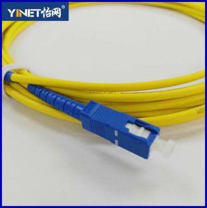 FTTH Fiber Optical Equipment 3m Sc-Sc Simplex 9/125 Singlemode Fiber Optic Cable Sc Patch Cord pictures & photos
