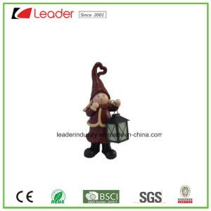 Decorative Polyresin Santa Figurine with Lantern for Christmas Decoration pictures & photos