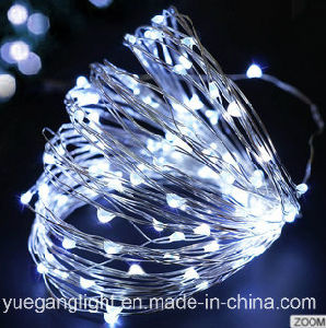 8 Flashing Solar Panel Light Copper Light String for Outdoor Use Xmas String Fairy Light for Party Home Decoration pictures & photos