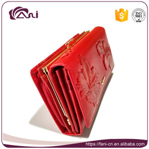 New Design Wallets, Guangzhou Fashion Women Wallet, PU Leather Flower Printed Wallet pictures & photos