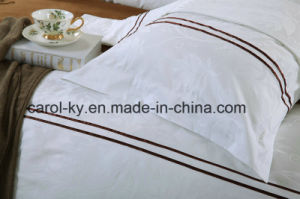 100% Cotton Decoration Piping Hotel Bed Linen Bedding Set pictures & photos