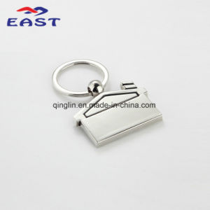 Customized Exquisite House Nickel Plated Metal Keychain pictures & photos