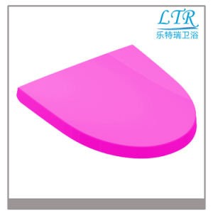 Rosed-Colored Customized Urea Toilet Seat Lid with Quick Release pictures & photos