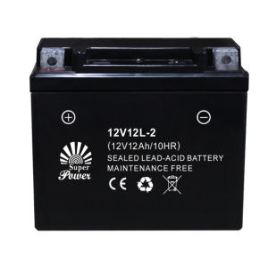 Sealed Maintenance Free Motorcycle Battery 12V12L-2 with CE UL Certificate pictures & photos