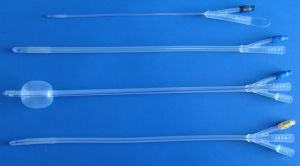 Silicone Foley Catheter for Single Use 3 Way pictures & photos