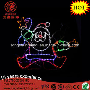 LED 90cm Silhouette Dancing Santa Rope Motif Light Christmas Lights for Xmas Decoration pictures & photos