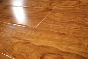 High Gloss Pressed U-Groove Laminated Floor pictures & photos