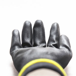 13G Polyester Liner Polyurethane PU Chemical Glove PU Coated Glove (5537. BL) pictures & photos