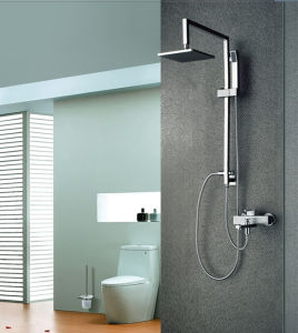 Stainless Steel Bathroom Rainfall Hand Shower Set with Watermark Certificate pictures & photos
