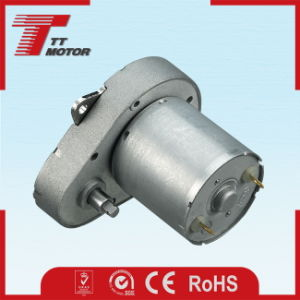 Low speed 48mm 12V DC gear motor for household appliances pictures & photos
