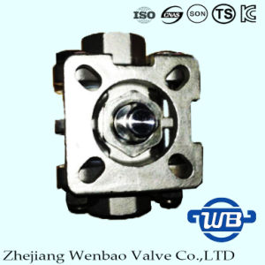 3PC Female Thread Platform Ball Valve with ISO Mounting Pad pictures & photos