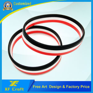 Factory Price Custom Sport/Party Silicone Wristband (XF-WB09) pictures & photos