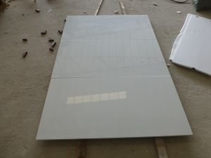 China Building Material Artificial Stone Nano White Glass Tile for Internal Decoration pictures & photos