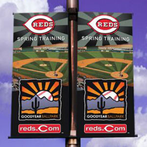 Customized Design Personalized Full Color Double Sided Pole Banners Printing pictures & photos