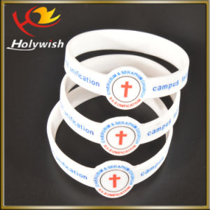 Event Use Custom Logo Embossed Printed Silicone Bracelet pictures & photos
