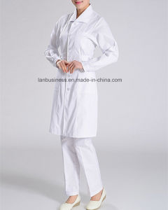 Long Sleeve Lapel Medical Gown for Hospital Nurse pictures & photos
