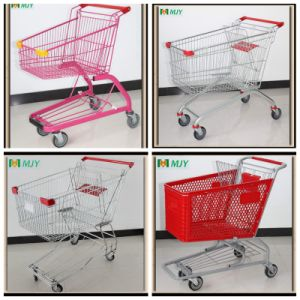 Supermarket Metal Shopping Trolley Cart From 60liters to 275 Liters pictures & photos