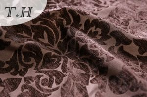 2016 Large Dark Folowers 100% Polyester Fabric for Sofa and Furniture (FTH32093) pictures & photos