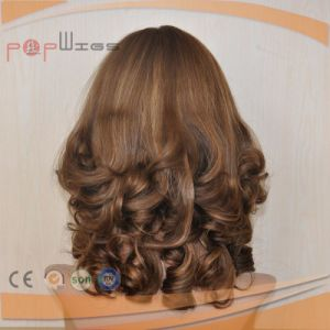 Human Blonde Remy Hair Wavy Curly Wig Type Silk Top Wigs pictures & photos