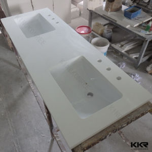 Kkr Customized Quartz Solid Surface Kitchen Bathroom Vanity Tops pictures & photos