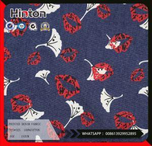 Lip Printed Plain Denim Fabric 4oz for Dress pictures & photos