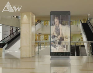 P3.91*7.8 Indoor High Transparent Glass LED Display pictures & photos