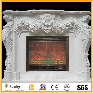 Europe Style Sandstone/White Marble/Travertine Sculpture Fireplace for Home Decorations pictures & photos