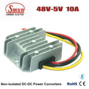 Waterproof IP68 48VDC to 5VDC 10A Step Down DC-DC Converter pictures & photos