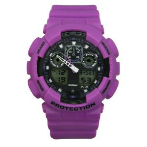 Plastic Case Rubber Band Japan Movement Three Dials Quartz Chronograph Fancy Watch pictures & photos