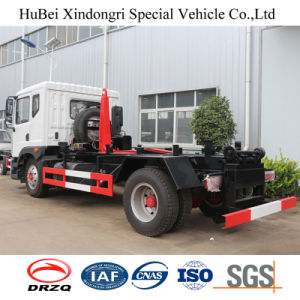 10cbm Dongfeng Hook Arm Lifting Type Rear Loading Euro 4 Garbage Truck pictures & photos