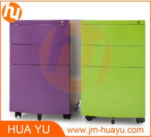 Movable Filing Cabinet with Curved Drawer Front/Metal Office Furniture