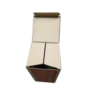 Brown Packing Box with Red Flexo Printing Cardboard Packing Box Price pictures & photos