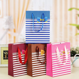 Hot Sell Logo Printed Custom Gift Paper Bags for Shopping pictures & photos