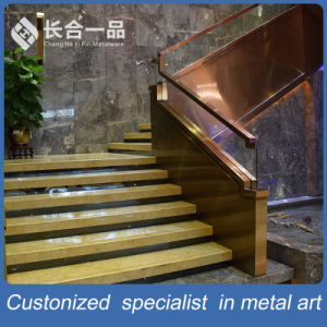 Customized Factory Manufacture Stainless Steel with Glass Staircase Handrail pictures & photos