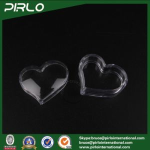3G Heart Shape Transparent PS Jar with Lid Empty Small Plastic Lip Balm Pure Container Mini Eye Cream Jar Clear Plastic Jar pictures & photos