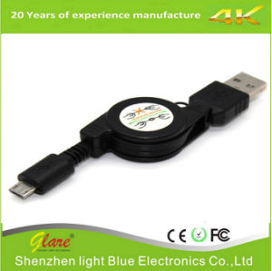 Micro USB to USB Retractable Sync Charger Cable pictures & photos