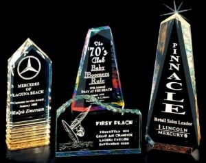 Acrylic Trophy Award with Black Base pictures & photos