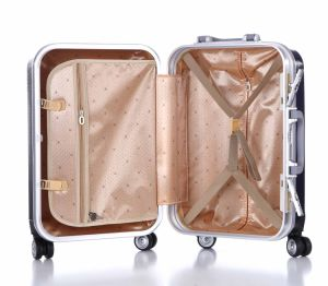 Good Quality New Design Aluminum Frame Travel Luggage (XHAF021) pictures & photos