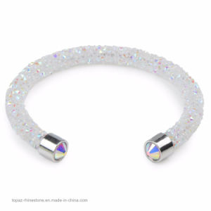 Single and Double Crystal Bangle of Rhinestone Paved Tube Crystal Bracelet for Man and Women Jewelry (TB-single bangle 001) pictures & photos