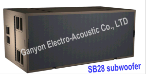 Sb 28 High-Power Subwoofer Double 18 Inch Line Array Bass Speaker Sub Woofer pictures & photos