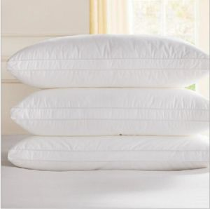 Rectangle White Hotel 6cm Duck Feather Pillow pictures & photos