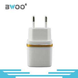 2.1A Portable Dual USB Wall Charger with EU Plug pictures & photos
