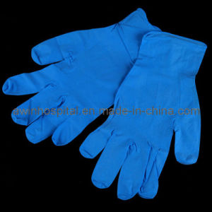 Nitrile Gloves Blue Color with High Quality pictures & photos